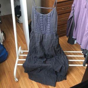 Grey element hi-lo dress